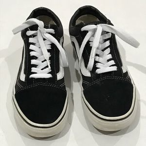 Black and white low vans